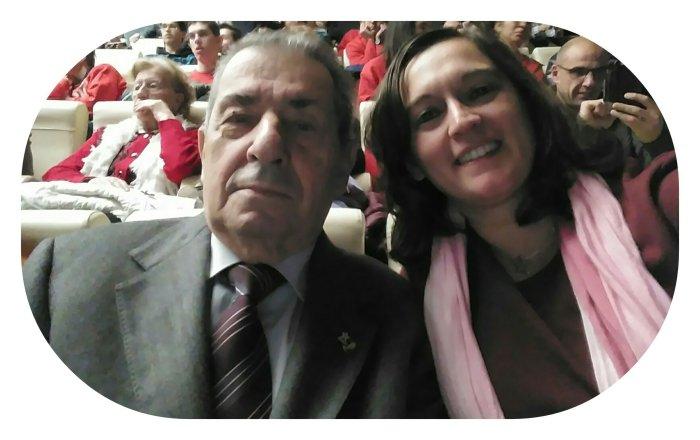 Selfie con Italo Vittorio Ginevrini, la Stella al petto e Roberta De Nisi